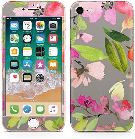 igsticker iPhone SE 2020 iPhone8 iPhone7 専用 スキンシール 全面スキンシール フル 背面 側面 正面 液晶 ステッカー 保護シール 010237 フラワー 花 水彩