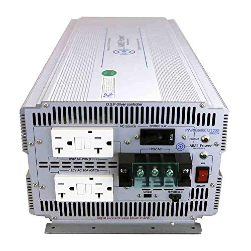 AIMS Power 5000 Watt 48V DC to 120V AC Industrial Pure Sine Power Inverter