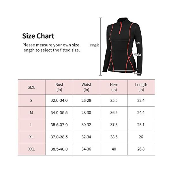 Cici Five Long Sleeve Workout T Shirts Thermal Running Shirts for Women Plush Yoga Fitness Slim Tops Half Zip Pullover