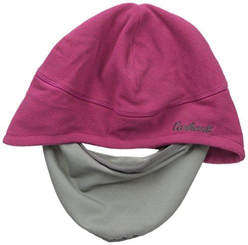 Carhartt Women's Gretna Fleece 2 in 1 Hat and Face Mask, Raspberry, One Size