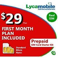 Carte SIM prépayée USA, 4Go 4G LTE, appels et SMS à l'international illimités, 30 jours