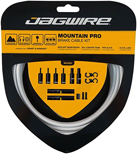 Jagwire Pro Brake Cable Kit Mountain SRAM/Shimano, White by Jagwire
