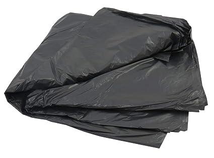 10 grandes color negro plástico Polietileno basura bolsas ...