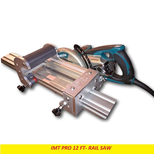 IMT PRO Professional Wet Cutting Makita Motor Rail, Track Saw for Granite with 12 ft (Granite Saw)