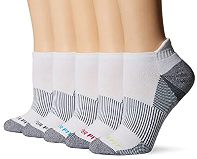 Copper Fit Women's Performance Sport Cushion Low Cut Ankle Socks w/ Heel Guard (5 pair)