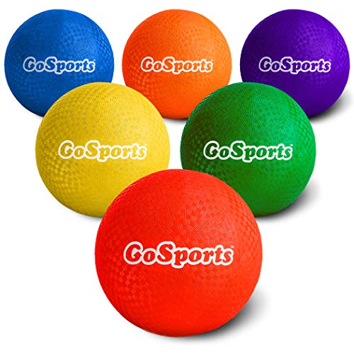 GoSports 10' Playground Ball (Set of 6) with Carry Bag and Pump