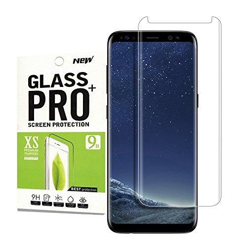for Galaxy S8 Tempered Glass Screen Protector Full Coverage,Kbbale [9H Hardness][Anti-Scratch][Anti-Bubble] Ultra HD Screen Protector Samsung Galaxy S8
