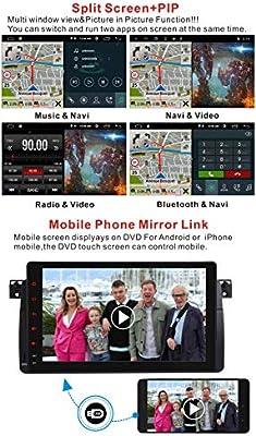 Android 10.0 Auto Stereo Navigation GPS 9 in HD IPS kapazitiver Touchscreen f/ür BMW E46 3er 1999 DAB 2004 Bluetooth Sat NAV Radio RDS Bildschirm Spiegel Canbus Lenkradsteuerung WiFi DSP 96G