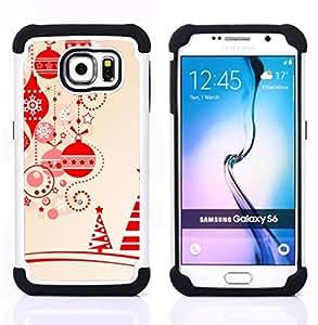 - brown christmas decorations tree/ H??brido 3in1 Deluxe Impreso duro Soft Alto Impacto caja de la armadura Defender - SHIMIN CAO - For Samsung Galaxy S6 G9200