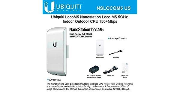 Amazon.com: Ubiquiti NanoStation Loco M5.: Computers ...