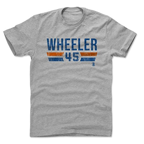 500 LEVEL Zack Wheeler Cotton Shirt Large Heather Gray - New York Baseball Men's Apparel - Zack Wheeler New York Font B