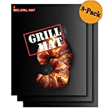panshine Twisted Chef BBQ Grill Mats Non Stick Easy To Clean- Best For Charcoal and Gas Grills - Essential Grill Accessories and Barbecue Tools - Set of 3 Sheets