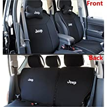 Toworld18 ONE SET Front + Rear Car Seat Covers Seat Cushions for 2011-2016 Jeep Wrangler JK 4 DOOR