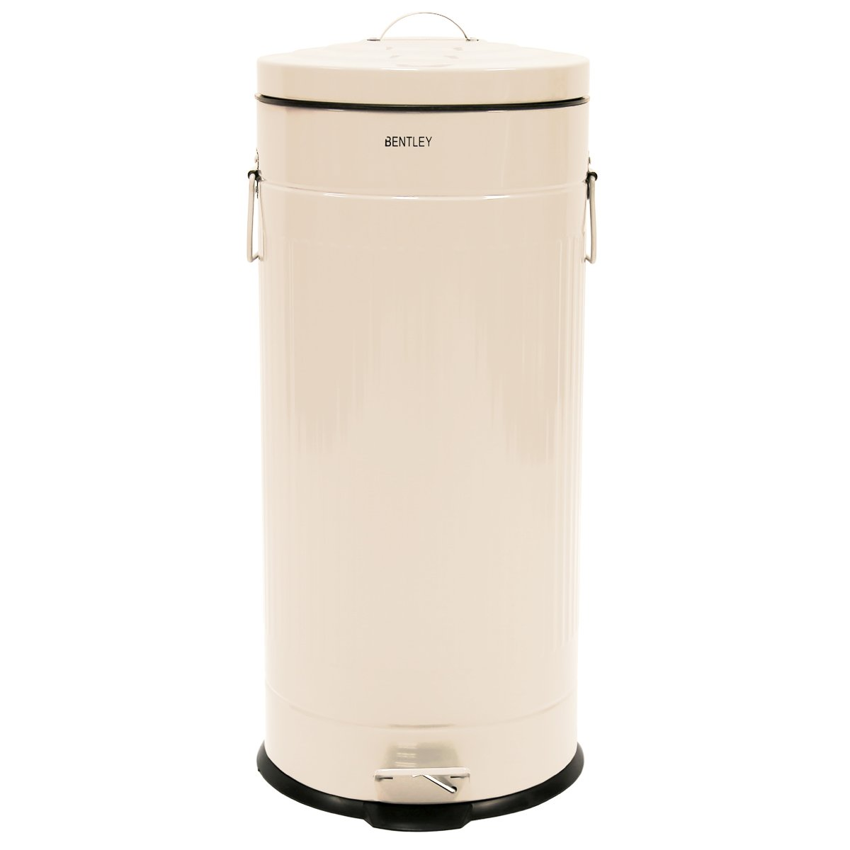 30L RETRO STEEL ENAMELLED WASTE RUBBISH KITCHEN PEDAL BIN   CREAM:  Amazon.co.uk: Kitchen U0026 Home