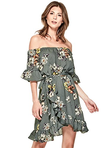 GUESS Factory Women's Fera Floral Print Off-The-Shoulder Casual - Women Guess