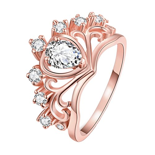 PAURO Womens Queens Heart shaped Zirconia product image