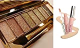Image of Axcv5 9 Colors Colorful Gilter Eyeshadow Super Flash Colour Concealer Palette Gift Bundle, Under Eye Concealer, Glow Light Sexy