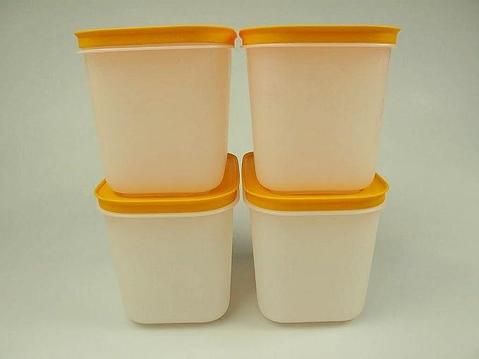 Tupperware Gefrierbehälter 4x 1l EisKristall Gefrierdose Gefrier-Behälter grün