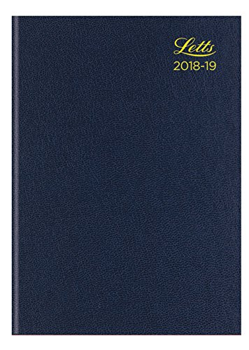 13 Standard Diary - Letts 18-TA3XBL A5 Standard Academic 18-19 Week To View 13 Month Diary - Blue