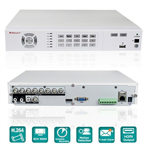 iSmart 8Channel H.264 Full 960H HDMI DVR Home Security Camera System (No HDD) D5608WH by iSmart