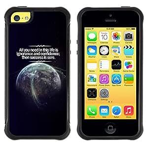 iKiki Tech / Estuche rígido - Life Success Planet Earth Confidence Cosmos - Apple iPhone 5C