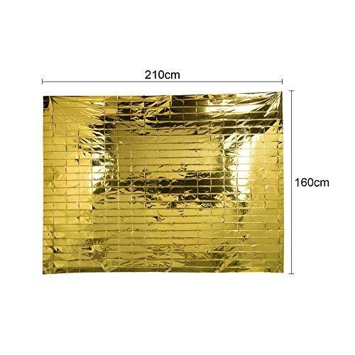 CO-Z Notfall Rettungsdecke 50 St/ück Rettungsfolie Notfalldecke Emergency Survival Thermal Blankets W/ärmedecke Gold Silber 160 x 210 cm