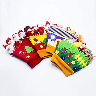 Uscyo Finger Puppets Christmas Toys Glove Glove Hand Puppets Finger Plush Toy Doll Animals People Santa Claus: Home & Kitchen