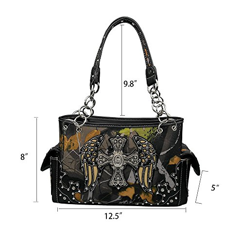 Skull Zip Carry For Tote Sugar Dearchuu Bag Studded Pu 1 Closure Women Handbag Concealed Bags Black Handbags Western Shoulder La qfEz6waa