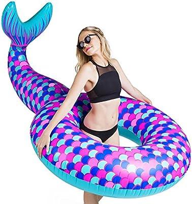 BigMouth Inc - Flotador Hinchable Cola de Sirena Gigante ...
