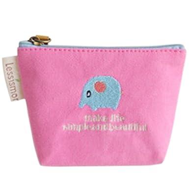 Sanwood - Mini monedero de tela, tipo cartera Rosa rosa ...