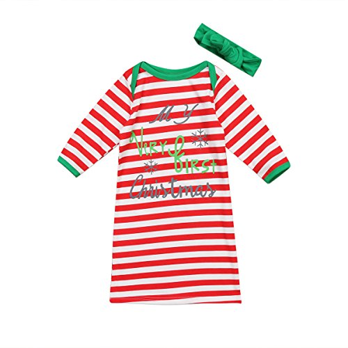 Xmas Baby Nightgown With Scarf