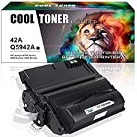 Cool Toner 1 Pack 10,000 Pages Compatible Toner Cartridge Replacement for Q5942A Q5942 42A Q1338A Used for Laserjet 4200 4240 4250 4250TN 4250N 4250DTN 4300 4350 4345MFP 4350N 4350TN 4350DTN