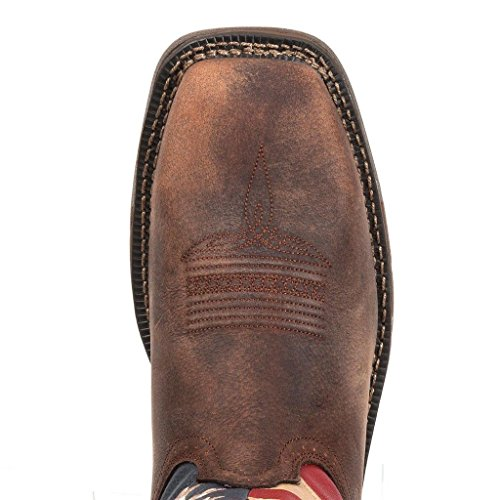 American Brown Toe 5 Durango W 7 Square Mens Flag Western Steel DB020 4XHXqx5Yw