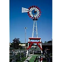 Roadside America Photo Collection | 1988 Windvane, Old Kilbourn mini golf, Route 12, Wisconsin Dells, Wisconsin | Photographer: John Margolies | Historic Photographic Print 16in x 20in