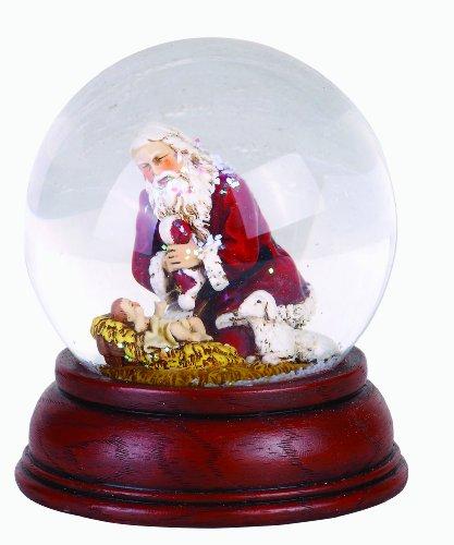 Joseph's Studio by Roman The Kneeling Santa Glitterdome, 4-3/4-Inch