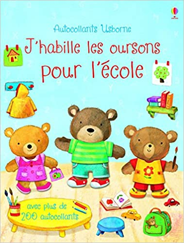 Livres J'habille les oursons pour l'école - autocollants USBORNE epub pdf