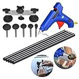 AUTOPDR® 7pcs DIY Puller Bridge Car Body Dent Repair Tool Kit Glue Gun Stick