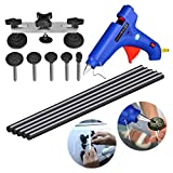 AUTOPDR 7pcs Auto Car Body Paintless Dent Repair Removal Tools Kit with PDR Hot Glue Gun Sticks for Hail Damage Car