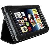 Tablet Stand Case Cover, AGPtEK Slim Folio Leather Protector for Barnes & Noble Nook Tablet/ Nook Color, Black