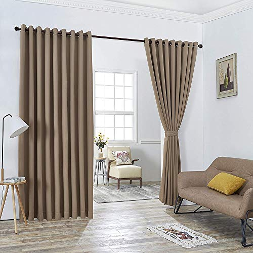 Warm Home Designs Extra Large 2 Taupe Wall to Wall Curtains 108