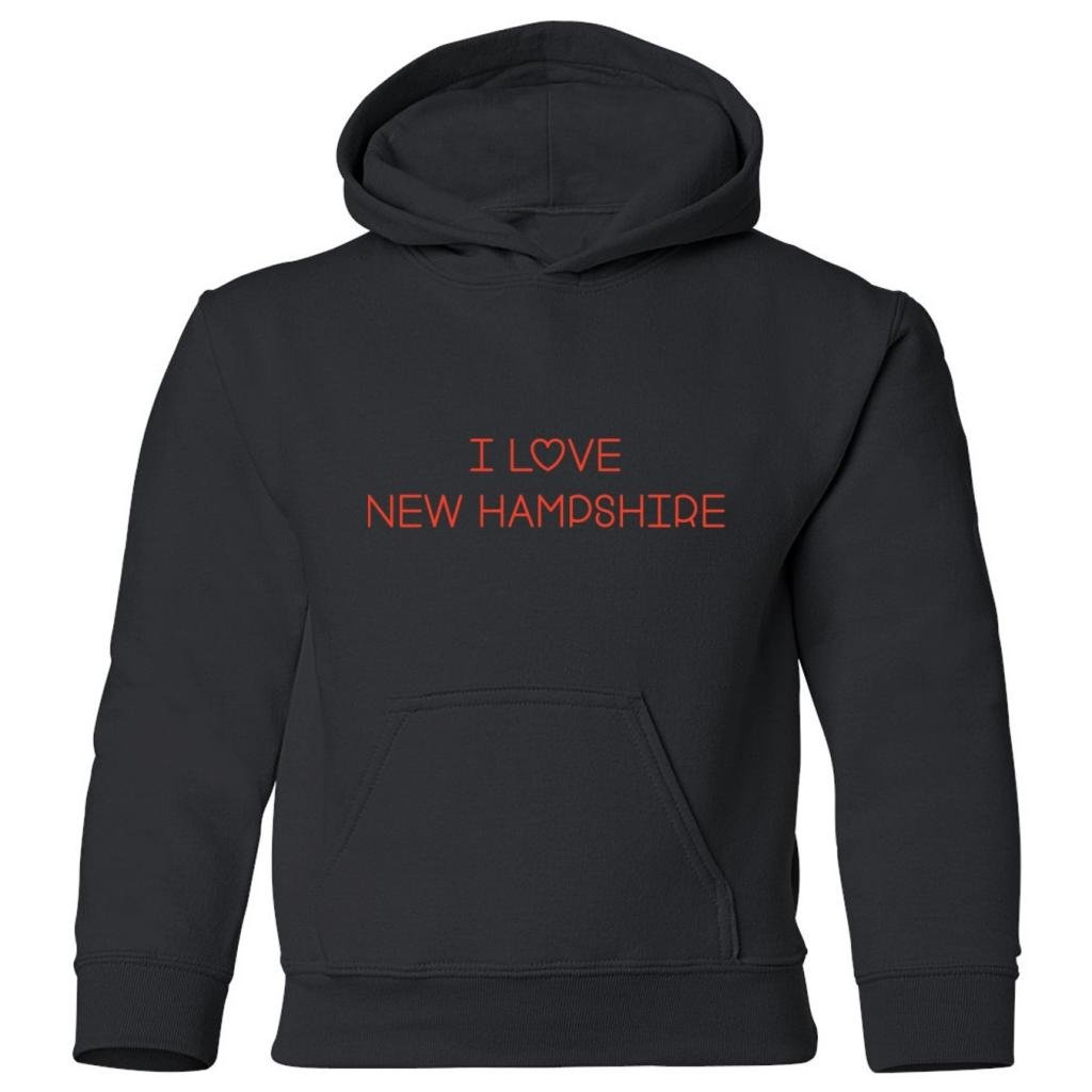 Mashed Clothing Big Boys I Love New Hampshire Kids Hooded Sweatshirt