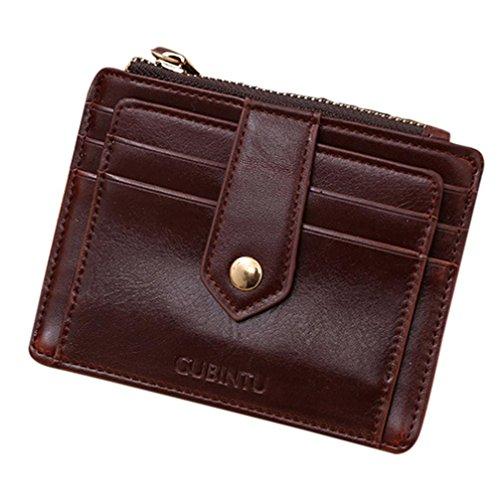 Price comparison product image Hot Sale! Women Wallet,Canserin Women's Mini PU Leather Zipper Wallet Credit Card ID Holder Money Clip Wallet (Coffee)