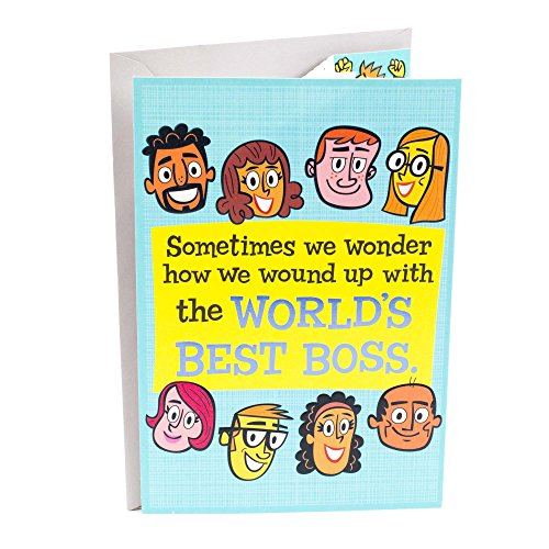 Hallmark Funny Boss's Day Greeting Card  (Card for Boss from World's Best (The World Card)