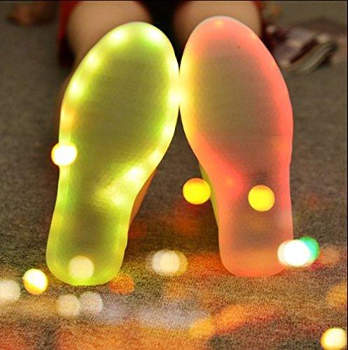 [Present:kleines Handtuch]JUNGLEST 7 Farbe USB Aufladen LED Leuchtend Sport Schuhe Sportschuhe Sneaker Turnschuhe für Unisex-Erwac Weiß