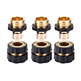 MaoFa Garden Hose Quick Connector - Water Hoses Quik Connect Release No-Leaks Pressure Washer 3Sets(6pieces) (3Sets)