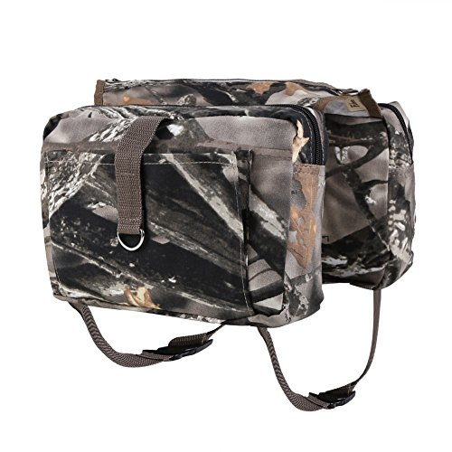 Fuloon Cotton Canvas Dog Pack Hound Travel Camping - Camo Dog Backpack