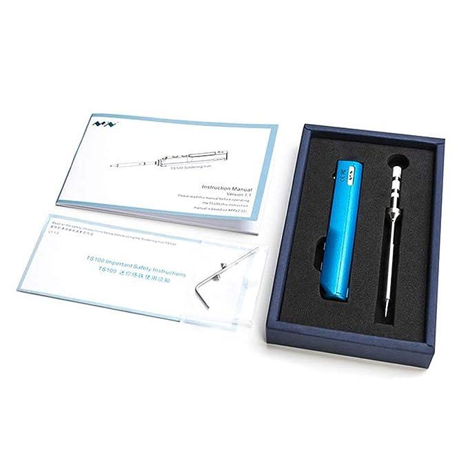 Delicacydex TS100 Mini portátil Inteligente Inteligente programable Soldador eléctrico Pantalla LCD Original Sugerencia de reemplazo de Alta frecuencia: ...
