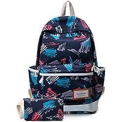 """Flower WaterProof 15"""" Laptop Print School Student Backpack Unisex"""