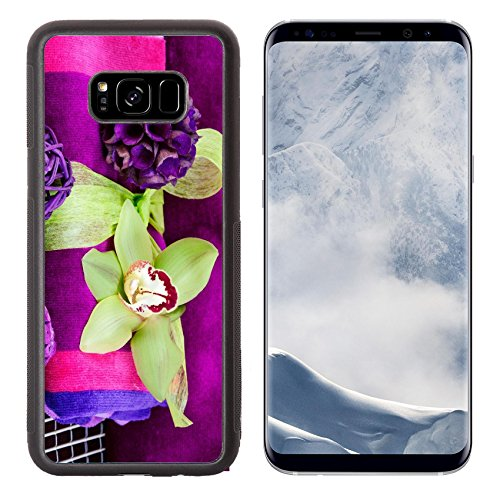Luxlady Samsung Galaxy S8 Plus S8+ Aluminum Backplate Bumper Snap Case IMAGE ID 21045154 Spa concept with an (Cocoa Cotton Border)