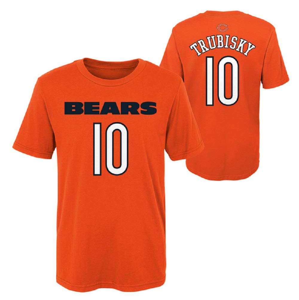 Amazon.com   Outerstuff Mitchell Trubisky Chicago Bears NFL Youth 8-20  Orange Mainliner Player Name   Number T-Shirt   Sports   Outdoors 2edf30279